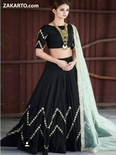 c575076d78 TRADITIONAL BLACK COLOR LEHENGA SUIT Chanya Choli, Lehenga Designs, Ethnic  Fashion, Indian Fashion