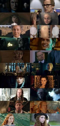 Actor and actresses in Harry Potter and Doctor Who.