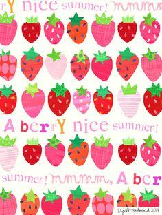 Strawberries by Jill McDonald