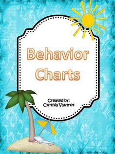 FREEBIE! Use this behavior chart to keep track of your student's behavior for 6 weeks.See my coordinating Back-to-School Beach Theme....