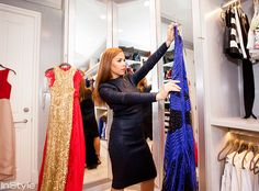 Take a tour of Monique Lhuillier& beautiful newly renovated closet in her Los Angeles home. Monique Lhuillier, Walk In Robe, Walk In Wardrobe, Celebrity Closets, Celebrity Houses, Three Way Mirror, Clothes Stand, Dressing Room Design, Custom Shades