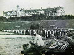 Very old photo of Redondo Beach hotel from a old pier. www.shaderb.com #ShadeHotelRB #LuxuryHotel #BoutiqueHotel