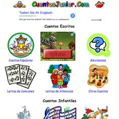 Cuentos, adivinanzas, vídeos y mucho más. http://www.cuentosjunior.com/' snapped on Snapito!