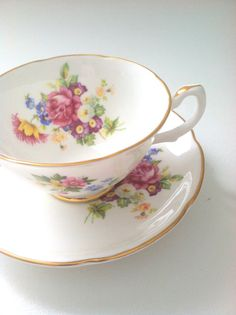 Vintage Royal Grafton Fine Bone China Tea Cup от MariasFarmhouse