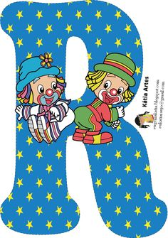 EUGENIA  KATIA ARTES -   ARTESANATO: MANIA DE VOCÊ- Contato:eukatiaraujo2701@gmail.com Cute Letters, Letters And Numbers, Alphabet Letters, Circus Theme, Circus Party, Clown Party, Send In The Clowns, Printable Banner, Pattern Images