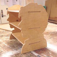 Sherlock silhouette bookshelf. I want one!