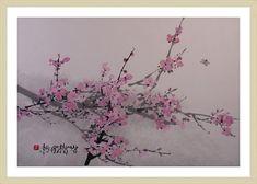 (Korea) 소박한 꿈을 위하여 by Kim Chung Sik (1954-   ). color on hanji. Korean painting.