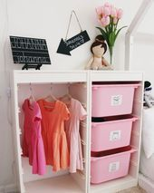 Dress up clothes organization, Montessori wardrobe, ikea hack, trofast hack, lif. - Ikea DIY - The best IKEA hacks all in one place Kids Wardrobe Storage, Kids Clothes Storage, Dress Up Storage, Diy Wardrobe, Kids Storage, Capsule Wardrobe, Bedroom Storage, Diy Bedroom, Toy Storage