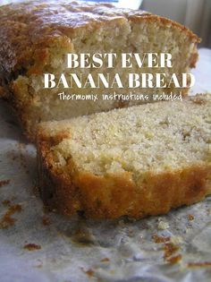 Oh yum! Got your Thermomix and ready to get baking? Here's 10 awesome Thermomix cake recipes to try. Which do you like bes Thermomix Bread, Thermomix Desserts, Banana Recipes Thermomix, Thermomix Banana Muffins, Easy Banana Bread, Banana Bread Recipes, Cake Recipes, Easiest Banana Bread Recipe, Banana Yoghurt Bread