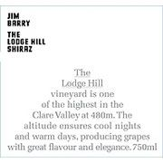 Jim Barry The Lodge Hill Shiraz 2012 | JH 95-pt - W&S 91-pt - WS 90-pt - RP 90-pt