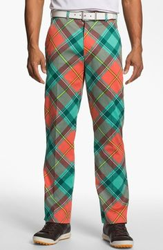 Loudmouth Golf 'Just Peachy' Golf Pants Nike Flex, Loudmouth Golf Pants, Let's Golf, Nike Golf, Golf Stance, Club Face, Miniature Golf, Just Peachy, Roller Derby