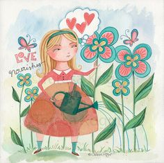 Love Nourishes  Whimsy Chick by Teresa Kogut