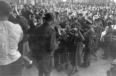 Jews humiliated by members of the Arrow Cross, WWII, Cities In Europe, Never Again, Teaching History, Budapest Hungary, Before Us, Camps, Arrows, World War Ii, Documentary