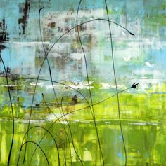 "Neil Young - 'Grasslands' Mixed Media on Panel 24""h x 24'w"