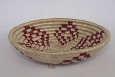 Excited to share the latest addition to my #etsy shop: Small Woven Basket/ Rwanda Basket /African Basket / Sisal Basket / Fruit bowl / Wall Hanging / African Woven basket / Tan and Red http://etsy.me/2DbwiAe #housewares #bowl #entryway #africanbasket #homedecor #rwanda