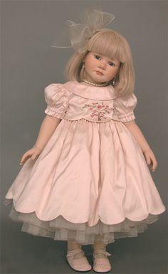 collectible germany dolls, porcelain dolls agatha treffeisen