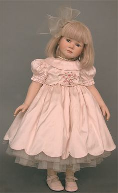 collectible germany dolls, porcelain dolls agatha treffeisen