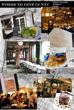 A TREASURE HUNT: WHERE TO DINE IN NYC: WEST VILLAGE, TRIBECA, SOHO