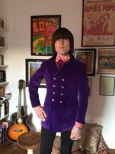 Take 6 - Purple velvet jacket - Carnaby Street. Worn by Peter Feely