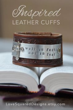 Hey, I found this really awesome Etsy listing at https://www.etsy.com/listing/165209388/walk-in-faith-premium-leather-cuff