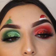 Makeup Eye Looks, Eye Makeup Art, Colorful Eye Makeup, Crazy Makeup, Cute Makeup, Makeup Box, Disney Eye Makeup, Red Eyeshadow Makeup, Crazy Eyeshadow