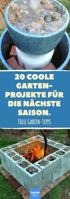 20 coole Gartenprojekte für die nächste Saison. Diy Craft Projects, Garden Projects, Home Projects, Outdoor Plants, Outdoor Decor, Upcycled Crafts, Garden Deco, Saison Blumen, Home And Garden