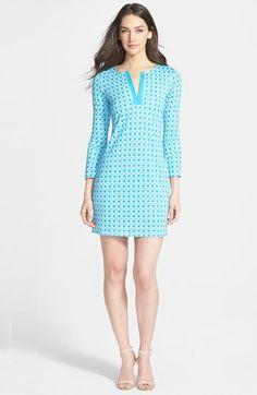 Diane von Furstenberg 'New Reina 2' Print Silk Jersey Shift Dress available at #Nordstrom