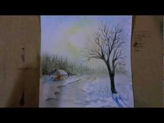Démo aquarelle -Reflets de décembre (watercolor tutorial) - YouTube                                                                                                                                                                                 Plus