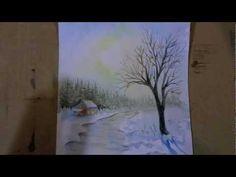 ▶ aquarelle - watercolor - d'hiver par Manù -True-painting - - YouTube