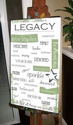 Personalized Retirement Gift, Awards Banquet Gift - variety of sizes, any color/color combo 18 x 30