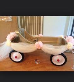 #CapeResortsWedding #NicoleMillerBridal this is a cute way to decorate a wagon for a flower girl or is too little to walk down the isle! Love it!!