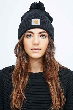 Carhartt Bobble Watch Hat Beanie in Black - Urban Outfitters