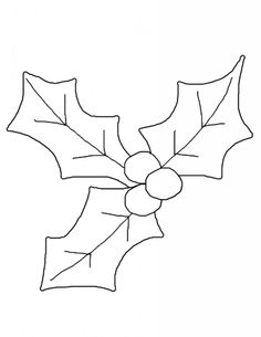 Holly Leaf Template Coloring Pages - High Quality Coloring Pages - Coloring Home Pages Christmas Leaves, Christmas Doodles, Christmas Stencils, Christmas Coloring Pages, Christmas Templates, Christmas Printables, Christmas Colors, Christmas Art, Christmas Signs