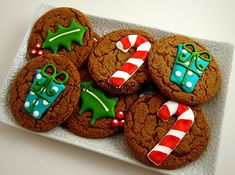 Holly cookies