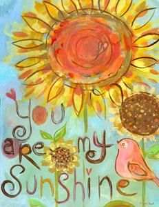 You Are My Sunshine Stretched Canvas