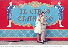 Circus Wedding From  http://www.theprettyblog.com/2012/01/red-blue-circus-wedding