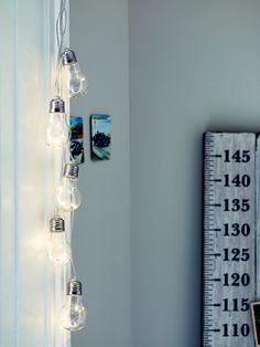 NEW Bulb Bundle String Lights - Kids Lighting - Lighting Homeware Uk, Kids Mirrors, Interior Inspiration, Bedroom Inspiration, Kitchen Inspiration, Bedside Lighting, One Bed, Kids Lighting, Interior Styling