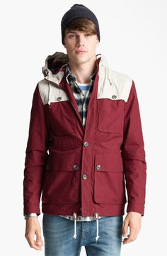 Topman Colorblock Hooded Jacket available at #Nordstrom