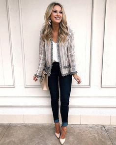 Tonight's look for speaking to female entrepreneurs 💕 What an amazing experience! Get my outfit details by clicking… Cool Outfits, Casual Outfits, Fashion Outfits, Womens Fashion, Work Outfit Casual, Cute Office Outfits, Fashion 2014, Jeans Casual, Look Blazer