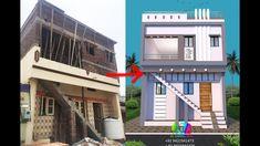 House Balcony Design, Village House Design, Village Houses, Modern Small House Design, 3d Home Design, Front Elevation Designs, House Elevation, Architecture, Arquitetura