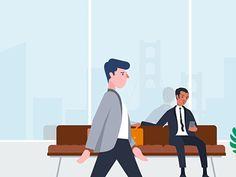 Hello there! by Aga Kozak - Dribbble Walking Animation, Animation Tutorial, Collage Design, Photography Illustration, Web Design Trends, Boy Art, Motion Design, Character Illustration, Motion Graphics