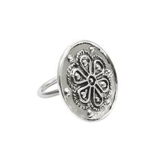 Home :: Jewellery :: By Category :: Rings :: Rodax (Rosette), Silver Ring Mycenaean, Decorative Beads, Ancient Civilizations, Rosettes, Special Gifts, Period, Cord, Queens, Women's Clothing