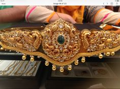 Vadyanam 250 GMs Indian Jewellery Design, Latest Jewellery, Jewelry Design, Indian Wedding Jewelry, Bridal Jewelry, Gold Jewelry, Pearl Jewelry, Vaddanam Designs, Waist Jewelry