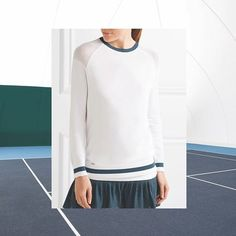 Stay warm this winter in our Medea Mesh Shoulder Sweater #letoilesport