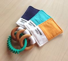 I want this!  Pantone color swatch baby toy custom order by PrimSociety on Etsy, $29.00