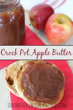 I cannot wait to make this Simple Crock Pot Apple Butter Recipe this fall!!