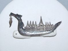 Siam Sterling Niello King of Siam Royal Dragon Barge Brooch Pin Ebay Web, Brooch Pin, 1940s, Sunshine, Dragon, King, Brooch, Sunlight, Dragons
