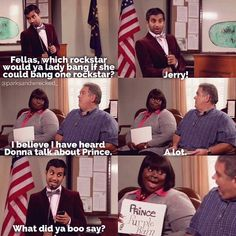 Parks And Recreation. Jerry . donna. Prince. Tom.