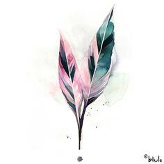 Watercolor Plants, Watercolor Leaves, Watercolor Artwork, Watercolor Beginner, Floral Artwork, Garden Painting, Painted Leaves, Arte Floral, Minimalist Art