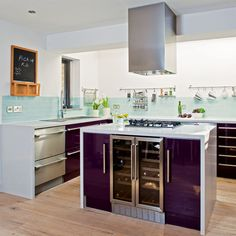 purple kitchen     (gee, it's quiet, Oh have to pick up the kids, lucky I wrote a reminder....duh)